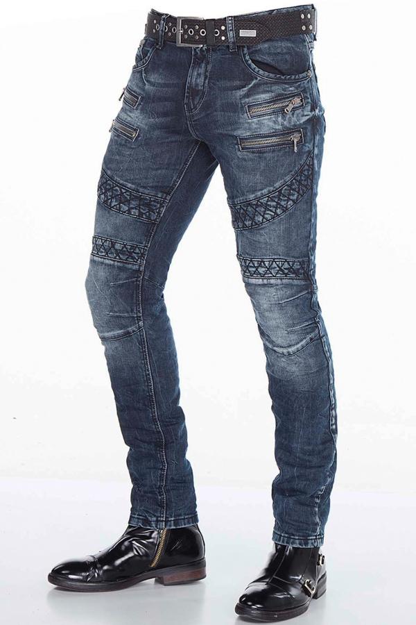 Jeansy w stylu motocyklowym...