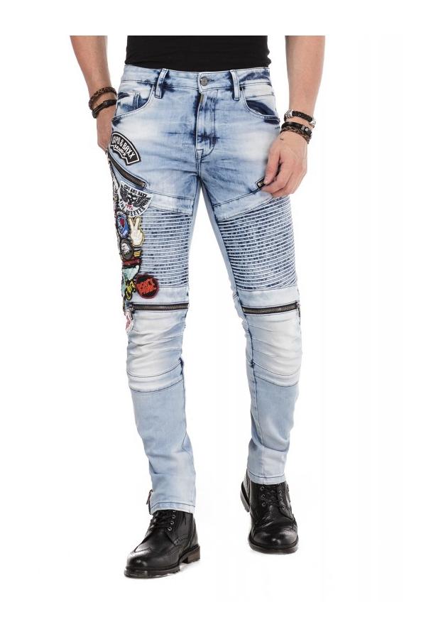 Spodnie Jeansy z naszywkami...