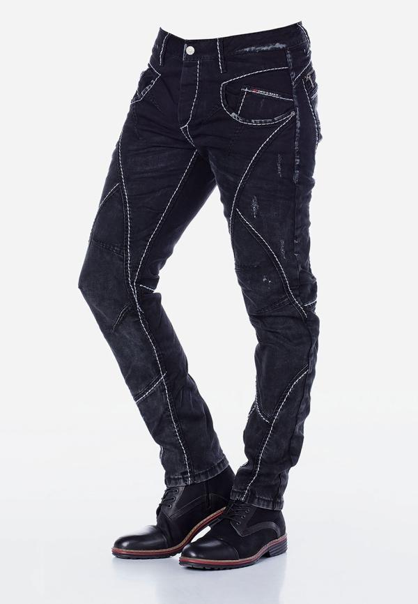 Spodnie z nitkami Cipo and...