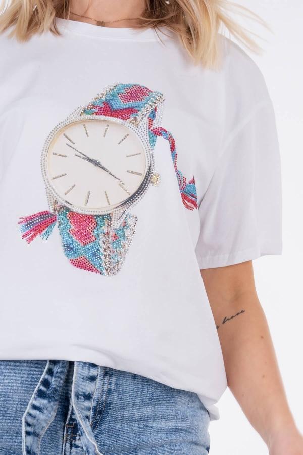 Koszulka z zegarkiem
